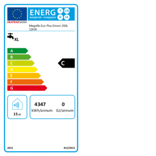 Heatrae Sadia Megaflo Eco Plus 250ddd Direct Unvented Cylinder 250L