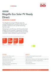 Megaflo Eco Solar PV Ready Direct Data Sheet