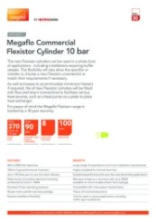 Megaflo Commercial Flexistor Cylinder 10 Bar Data Sheet