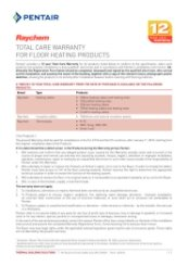 Raychem Warranty Sheet