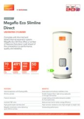 Megaflo Eco Slimline Direct Technical Data Sheet