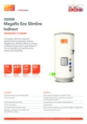 Megaflo Eco Slimline Indirect Technical Data Sheet