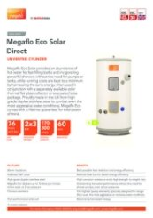 Megaflo Eco Solar Direct Data Sheet