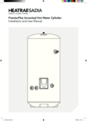 PremierPlus Unvented Hot Water Cylinder Installation and User Manual