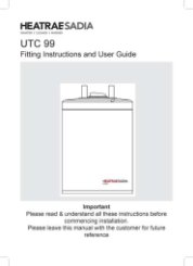 UTC 99 Fitting Instructions and User Guide