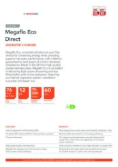 Megaflo Eco Direct Unvented Cylinder Data Sheet